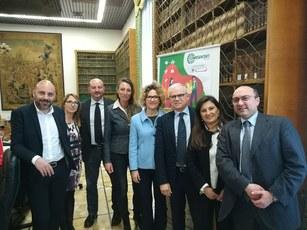I relatori con a sin Luigi Muci Antonio Schipa e Alfredo Prete