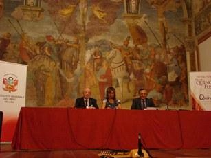 Presidente Soc. Umanitaria, Console Generale del Peru e Maricela Sinchez