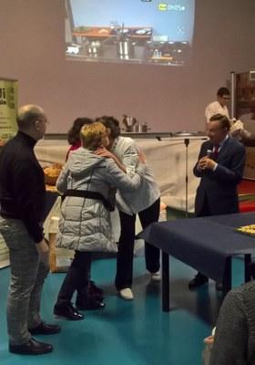 Commemorazione Walter Del Cin e consegna Pane Walter alla moglie