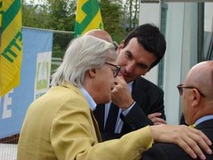 Ministro delle Politiche Agricole Martina con Vittorio Sgarbi