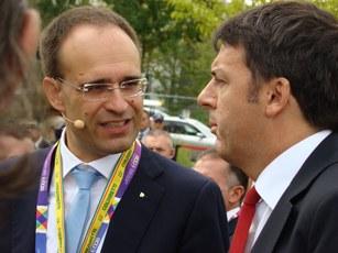 Presidente Moncalvo con Il Presidente del Consiglio