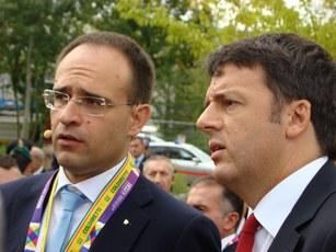 Presidente Roberto Moncalvo con il Presidente del Consiglio Matteo Renzi