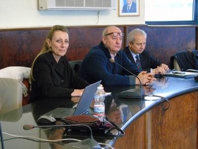 da sin Simona Lauri, Vinceslao Ruccolo Presidente Regionale FIESA Abruzzo, Angelo Pellegrino Direttore Officina dei Sap