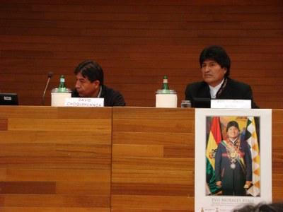 Evo Morales Ayma Lectio magistralis Univ. Bocconi