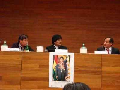 Evo Morales Ayma Presidente dello Stato Plurinazionale della Bolivia
