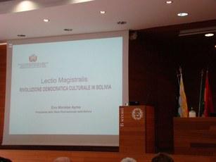 Lectio Magistralis Evo Morales Ayma Univ. Bocconi