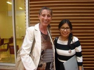 Simona Lauri con il Console Generale della Bolivia
