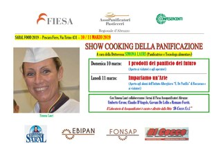 Show cooking Lauri Saral Food Pescara